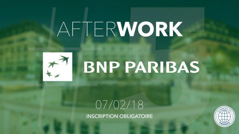 Afterwork #5 : Sciences Po Finance reçoit BNP Paribas