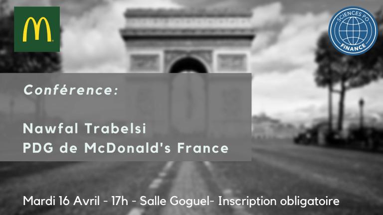 Conférence PDG McDonald's FRANCE